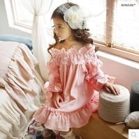 F513258 2017 New Summer Baby Dress Baby Girl Dress Lace Princess Dress Fashion Ruffles Girls Dress