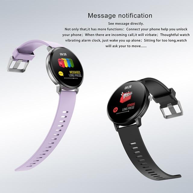 Waterproof Tempered glass Activity Fitness tracker Men Women Smartwatch 1
