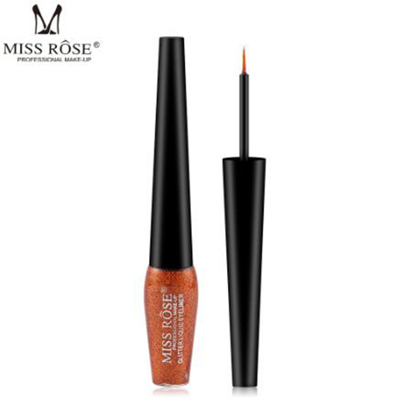 MISS ROSE Jin Chong Pearl Liquid Eyeliner Diamond High Gloss Long Lasting Waterproof Eyeliner