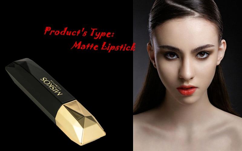 Beauty Matte Lipstick Long Lasting Cosmetics Maquiagem Women Makeup Red Batom Pigments Waterproof Lip Stick Pintalabios Mate 10