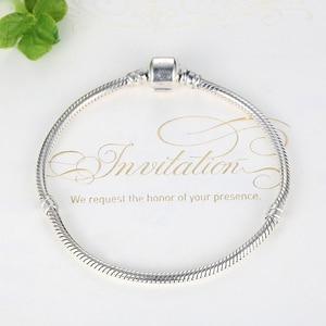 Image 4 - Eleshe Authentieke 100% 925 Sterling Silver Snake Chain Armband Fit Originele Merk Armbanden & Bangles Voor Vrouwen Diy Sieraden