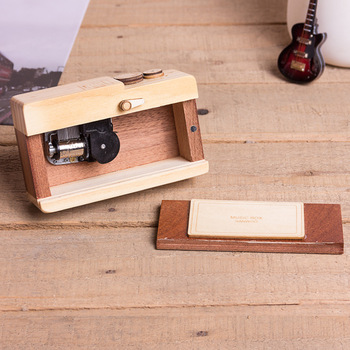 Gift for girlfriend Camera design Wooden Music Box hand cranked valentines day gift for boyfriend anniversary present new year 2