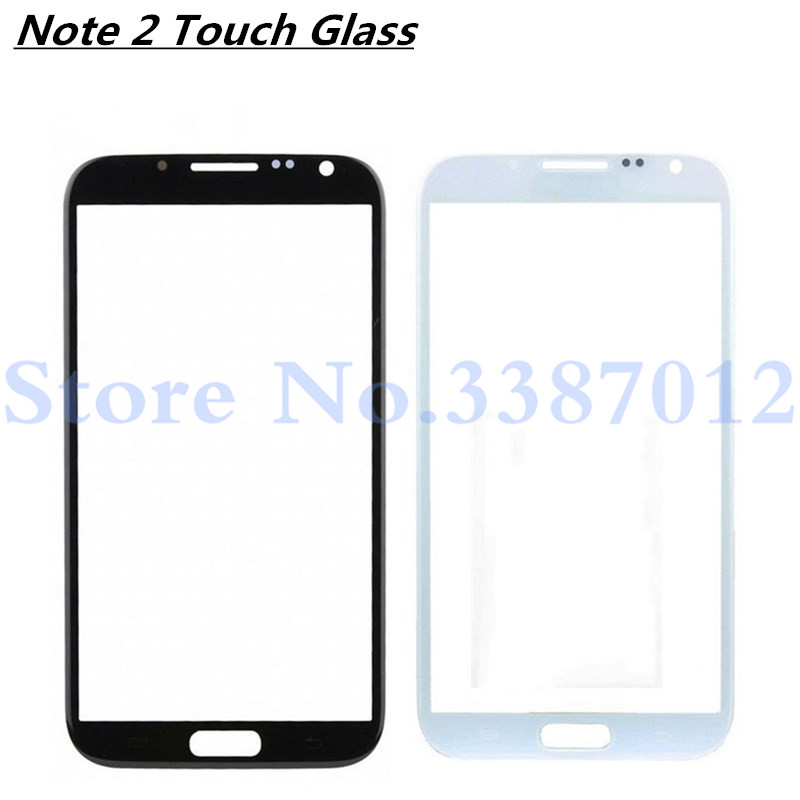 LCD Front Digitizing Touch Screen Glass For Samsung Galaxy Note 2 N7100 N7105 Replacement Parts Outer Glass image