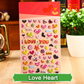 SST* 1 Sheet ' Love Heart ' Cartoon Kids Toys 3D Sticker DIY Kawaii Diary Decoration Scrapbooking kindergarten Stationery Cute +