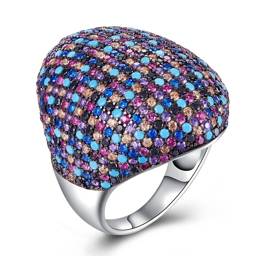 Nouveautés grandes bagues de couleur pour femmes 925 bague en argent style printemps bague de luxe bijoux de mode livraison gratuite