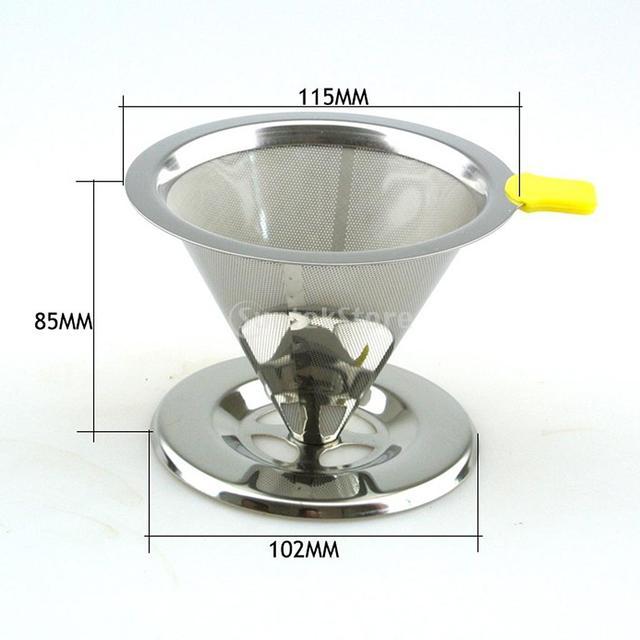 Kaffeefilter Edelstahl wiederverwendbare einzel tasse kaffeefilter edelstahl drip mesh