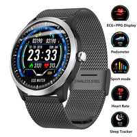 Smart Watch ECG+PPG Fitness Tracker Heart Rate Blood Pressure Watch Electrocardiograph Display for Samsung Xiaomi Android IOS