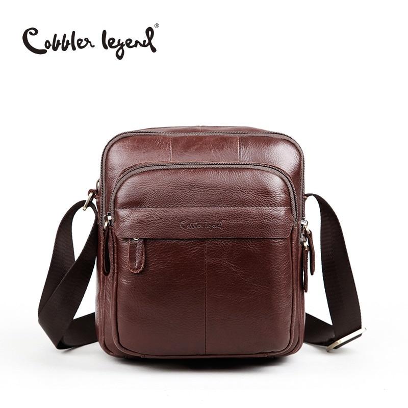 3da910ab8559 Cobbler Legend Brand 2018 Top Quality Vintage Real Leather Mens Sling Shoulder  Messenger Bag Male Handbags Crossbody Bags