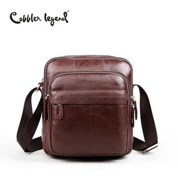 цена на Cobbler Legend Brand 2018 Top Quality Vintage Real Leather Men's Sling Shoulder Messenger Bag Male Handbags Crossbody Bags