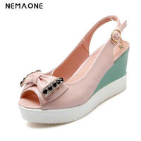 Summer Sandals Women Peep Toe Wedge Sandals Sweet Women Shoes Woman Shoes For Lady