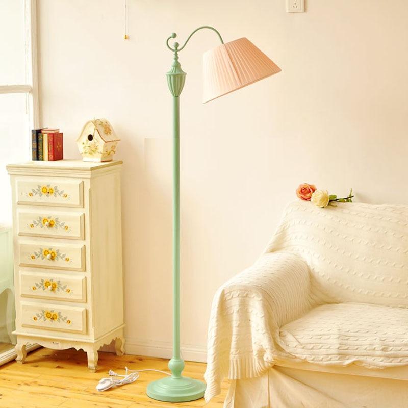 Nordic European Style Floor Lamp Modern Reading For Living Room Bedroom Vintage Countryside Bedside