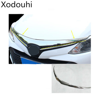 car detector trim front up engine grid grill grille panel sticke frame lamp part 1pcs For Toyota Vios/Yaris sedan 2017 2018 2019