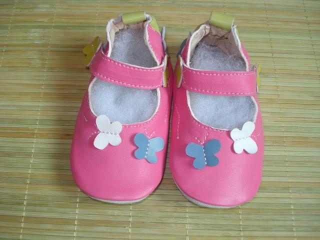 Гарантированная детская обувь из натуральной кожи на мягкой подошве; 1013; обувь для маленьких девочек; обувь для новорожденных; кожаная обувь для младенцев - Цвет: butterfly