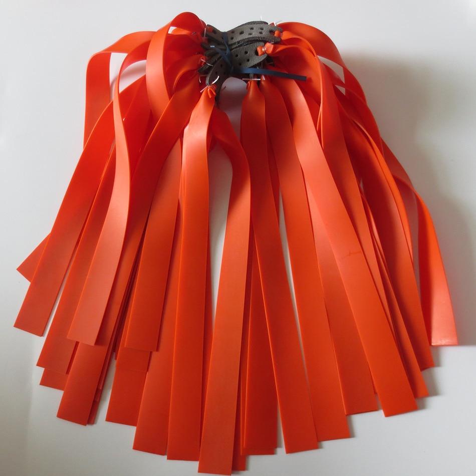 10 комплекта Плоска гумена лента Оранжев цвят 1мм дебелина добро качество латекс каучук прашка плоски гумени ленти, използвани за катапулти