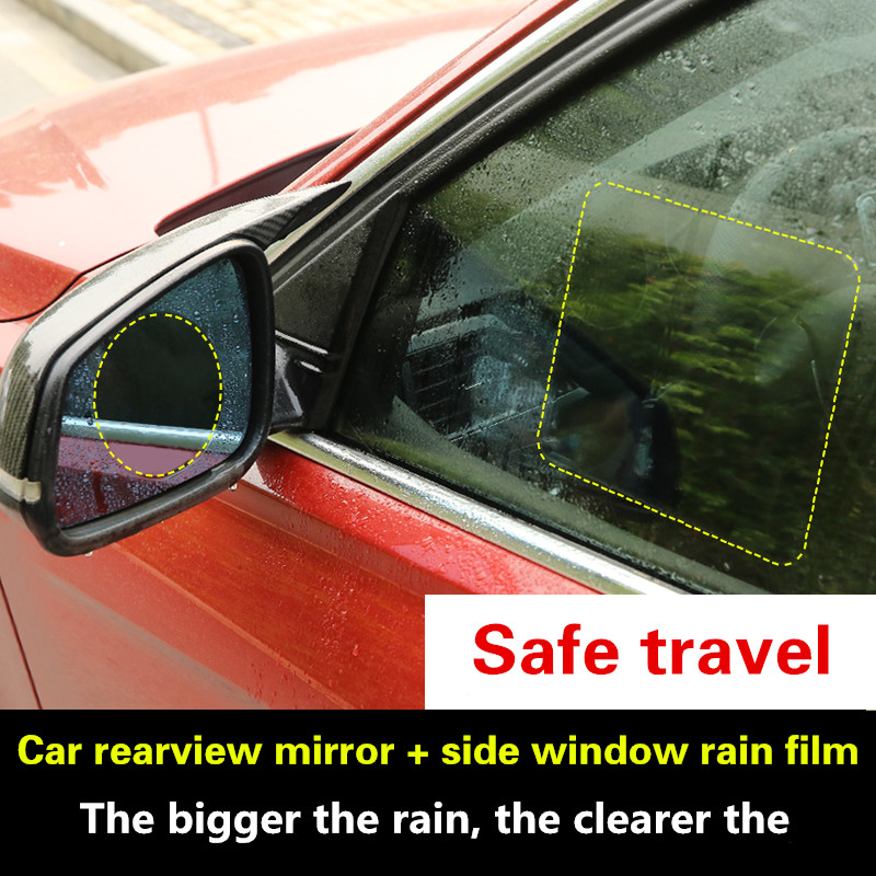 2 Pcs Car motorcycle Rearview Mirror Waterproof Membrane Anti-fog Anti-Glare Film Sticker Replacement styling Accessories