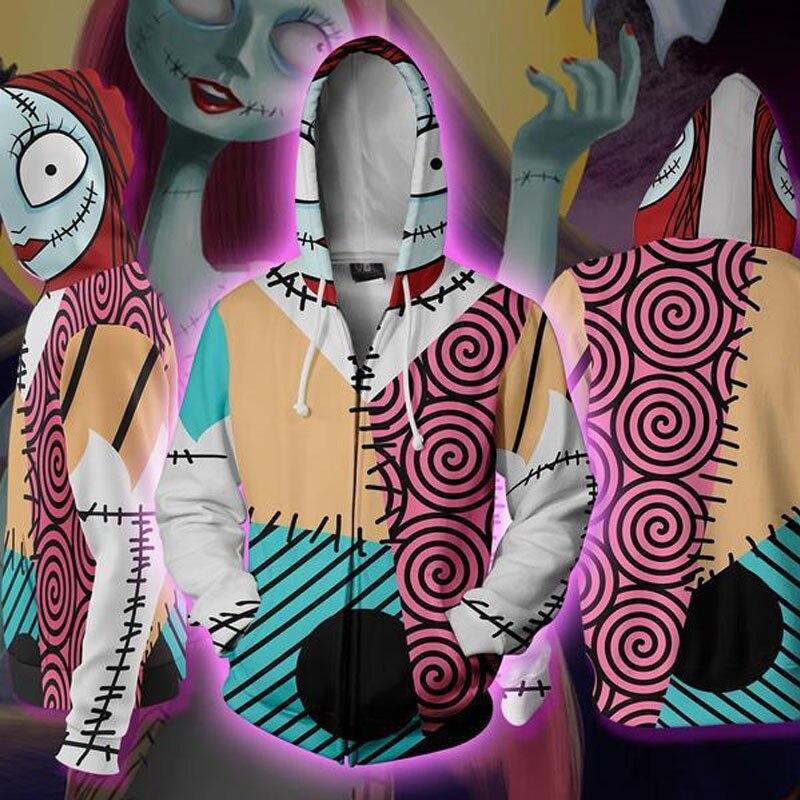 WXCTEAM Hooded Jack Skellington 3D Printed Hoodies Casual Tracksuit Casual zipper hoodie hooded hip hop tops