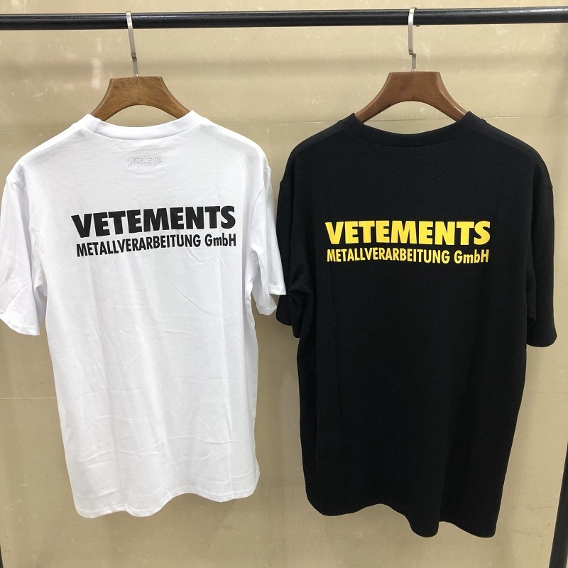 New Vetements T Shirt Men Women Streetwear Harajuku Embroidery Summer Style Cotton T-Shirt Boyfriend Gift Vetements Tshirt