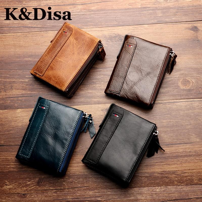 0ac0c7d89 Pánská krátká vertikální peněženka Originální kožená pánská kapsa ...
