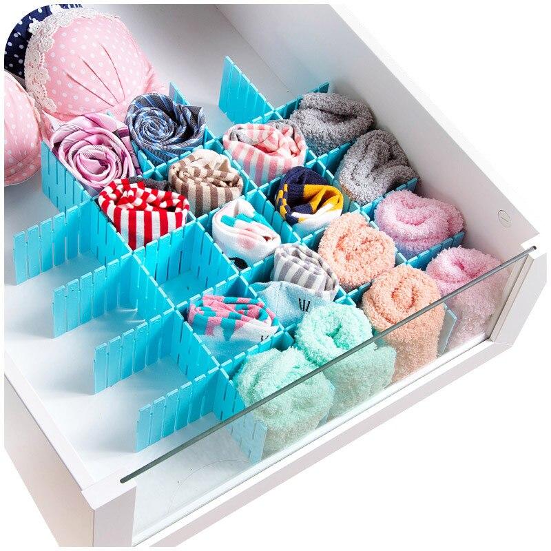 Hot Sale Creative Simple DIY Thicken Storage Box 4 Pieces Storage Clapboard Multifunction Drawer Organizer Sundries Boxes