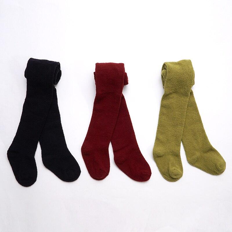 Muslinlife Korean Style Luxury Fleece Thicken Warm Baby Children Winter Pantyhose Comfortable Warm Girls Tight 0-8T