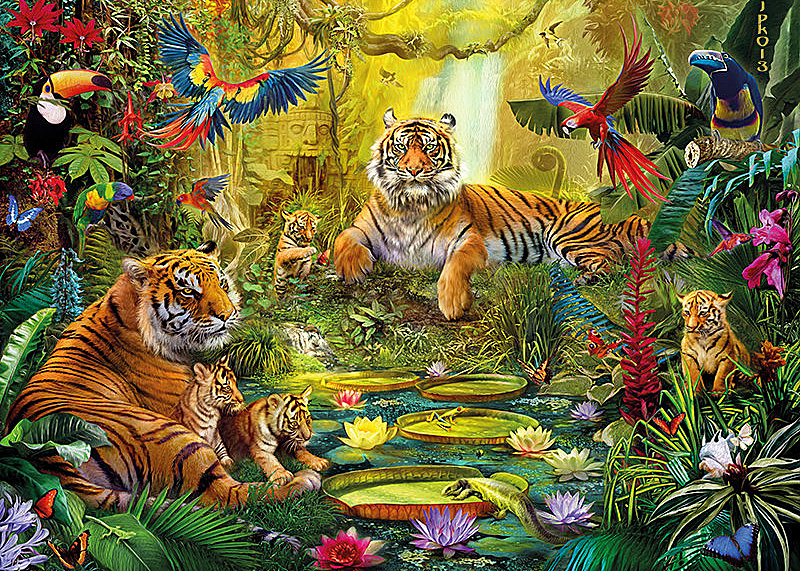 diy diamond painting forest animal full square diamonds embroidery tiger parrot flower 3d mosaic needlework home decor painting