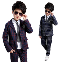 Boys formal Clothing Sets Autumn Spring Boys Wedding Clothes Kids Gentleman Handsome Suit Wedding Suits for 5 6 8 1 0 12 14years