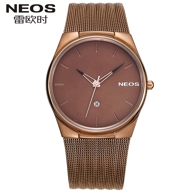 NEOS Big Dial Quartz Men's Watch Simple Waterproof Calendar Fashion Male Watch Ultra-thin Sports Business Advanced Watch