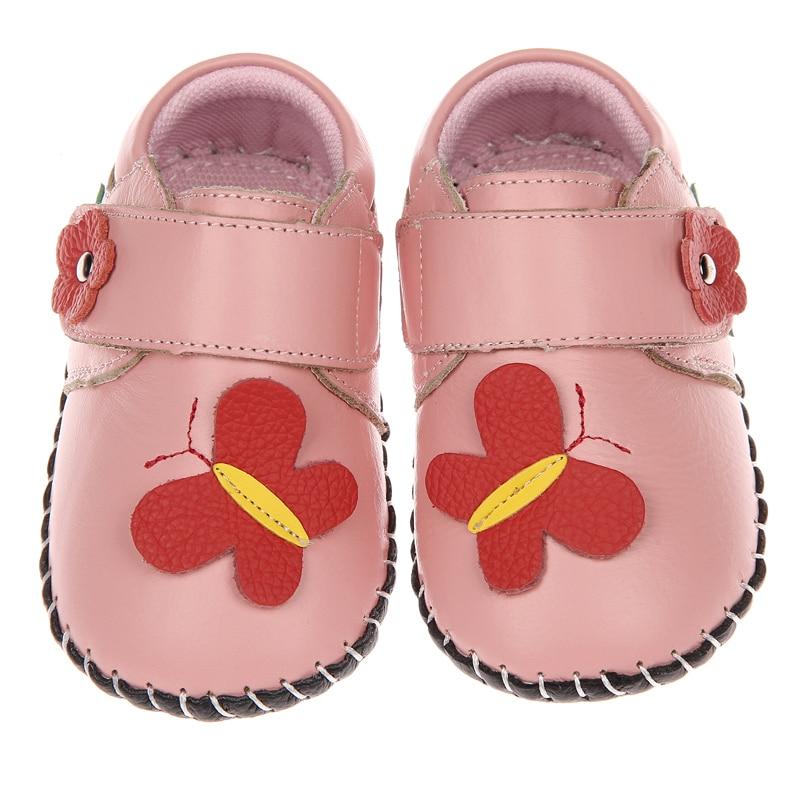 2017 automne nouveau bébé chaussures à semelle souple en cuir de vache filles chaussures garçons chaussures infantile prewalkers berceau chaussures 0-2 ans intérieur en plein air