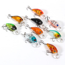 9pcs Plastic Set of Fishing Lures Bass China CrankBait Hard Crank Bait Deep Sea Fishing Trout Tackle Accessories 4.5cm/4g New