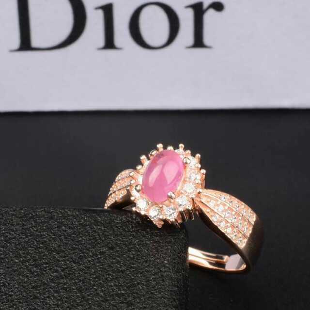 Anel de pedra Natural vermelho rubi Anel de pedras preciosas Naturais S925 sterling silver trendy Elegante Diana rodada mulheres wedding fine Jewelry