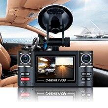 Carway F30 Автомобильный ВИДЕОРЕГИСТРАТОР 2.7 «TFT ЖК-ДИСПЛЕЙ HD 1080 P Поворачивается с Двумя Объективами Камеры Автомобиля Вождение Цифровой Видео регистратор Видеокамера Ночного Видения