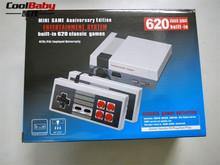 Mini clássico Jogo TV Console de 8 Bits Da Família de Jogos Portáteis Consoles com 2 pcs Gamepad Criada em 620 Jogos AV Out Retro jogo