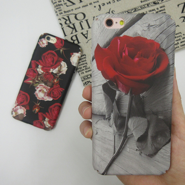 buy online 65c30 b6bf1 US $4.54 |Beautiful Vintage Rose Flower Case For iphone 6 6s Plus Cases  Floral Back Cover Hard Case Capa For iphone 7 7 Plus Phone on  Aliexpress.com | ...