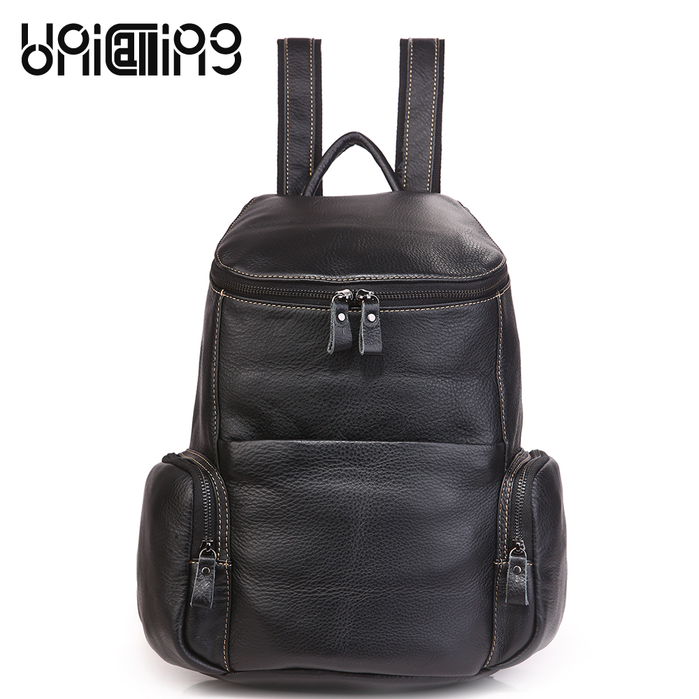 UniCalling New style cow leather backpack women large capacity Fashion women anti theft backpack Retro women mini backpack unicalling denim