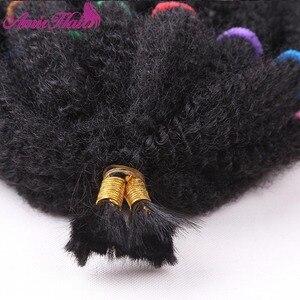 "Image 4 - Amir Mega Afro Kinky Twist Synthetic Hair 14 ""Crochet Braid Hairสำหรับผู้หญิงสีดำผม"