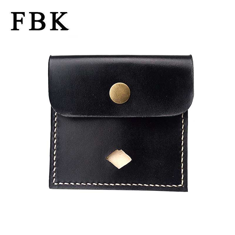 100% Genuine Leather Original Brand Designer FBK Fashion Small Purse Handmade Women Coin Purse Men Card Holders High-End Leather