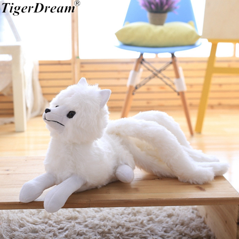 One Piece Nine Tail Fox Plush Toys Soft PP Cotton Stuffed Animals Dolls Sleeping Pillows For Children Birthday Present 2 Size image