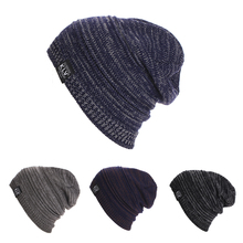 Winter New Men Women Beanie Oversize Warm Hat Ski Knitted Cap Skull Female Fashion Casual Outdoor Ski Caps