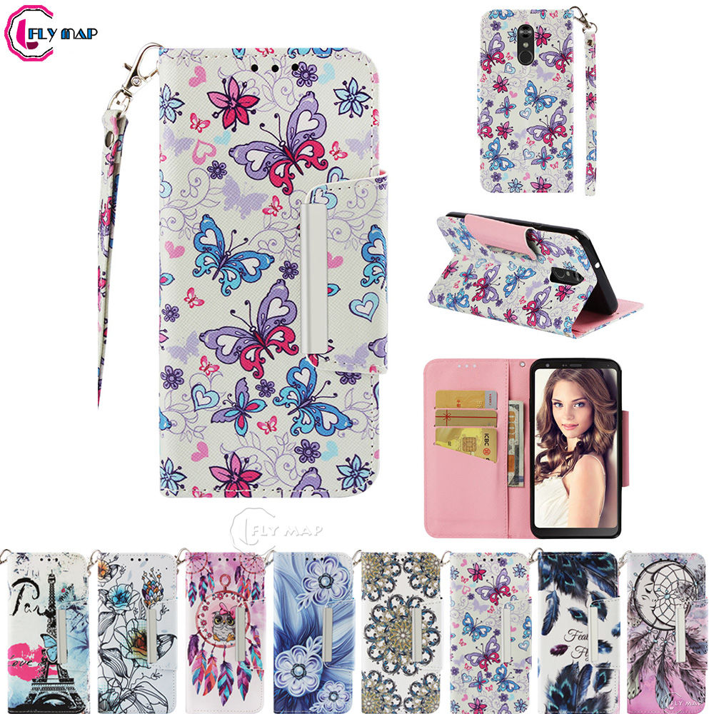 Wallet Big Cover for LG Q Stylus Plus Q710GX LM-Q710GX Case Phone