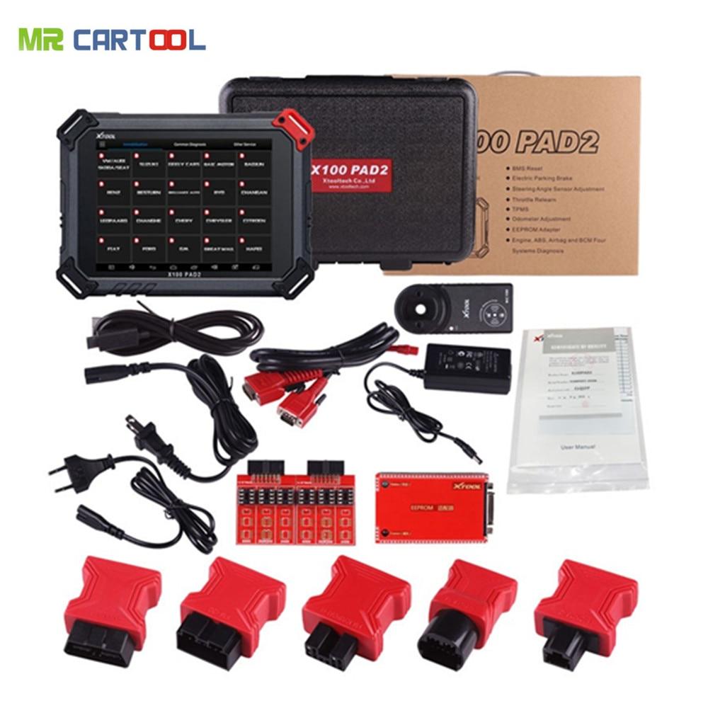 XTOOL X100 PAD2 Pro Programmatore Chiave Auto Lettore di Codice Chiave Wifi Bluetooth Strumento di Diagnostica Con VW 4th 5th IMMO Contachilometri di regolazione