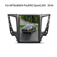 12,1 Тесла Тип Android 7,1/6,0 Fit MITSUBISHI PAJERO Sport/L200 2016 2017 2018 dvd плеер автомобиля навигация gps радио