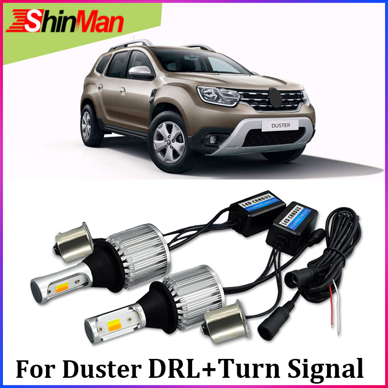 ShinMan 1156 <font><b>py21w</b></font> bau15s <font><b>led</b></font> <font><b>orange</b></font> Car <font><b>LED</b></font> DRL Daytime running Light daylight Turn signal turn light For Renault Duster Dacia image