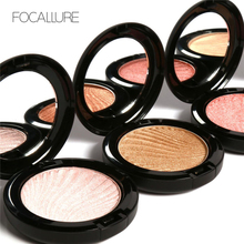 Focallure Face Highlighter Powder Palette Makeup Ultra Glow Beam Make Up Cosmetics Trimmer Bronzer