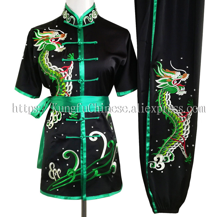 Chinese Wushu routine uniform Kungfu costume Martial arts suit changquan clothes outfit for men women children