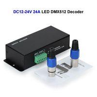 2 unids DC12V 24 V 24A LED DMX512 Decodificador Controlador DMX Para SMD 3528 5050 5730 RGB LLEVÓ la Tira Rígida módulo
