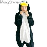 Winter Anime Women Pajamas Adult Animal Black Penguin Pajamas Sleepwear Costume Unisex