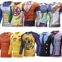 New Brand 3D Print Cartoon Anime T shirt Dargon Ball Pokemon/One Piece/Naruto/One Punch Man Tight T shirt Clothinganime t shirtbrand t shirtt shirt