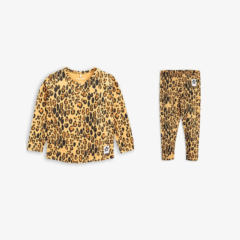 BOBOZONE leopard print Long-sleeve t-shirt and leggings for kids boys girs casual print long sleeve t shirt ox pants twinset for boys