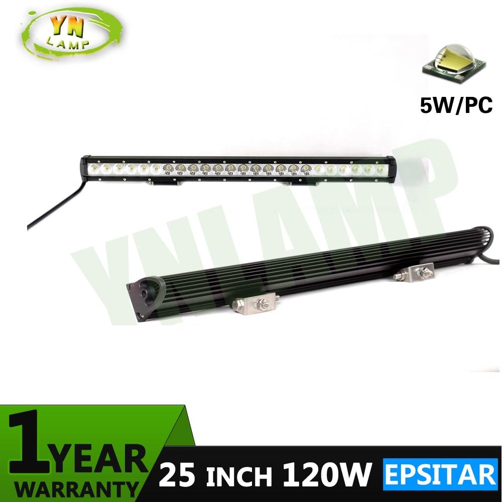 YNROAD 120W 25inch single row Led Light Bar  Driving Offroad Light Spot/flood/combo 10V- 30V  for 4x4 ATV UTV TRUCK 4WD юрій сорока дмитро байда вишневецький