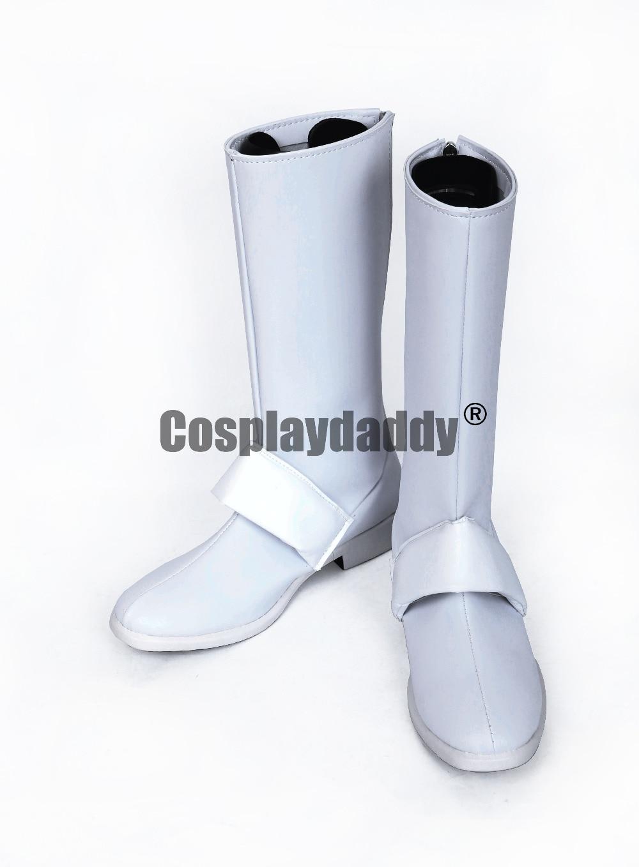 kono subarashii sekai ni shukufuku wo darkness White Long Cosplay Shoes Boots S008